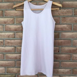 Athleta size M pale mauve, ribbed tank top